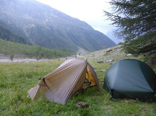 Aufstieg Alpen Zelten Juli / 2017 ...